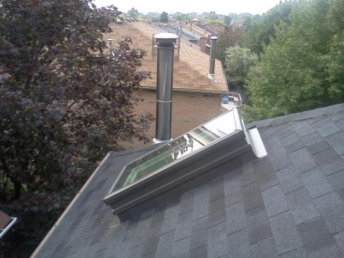 Velux skylight installation